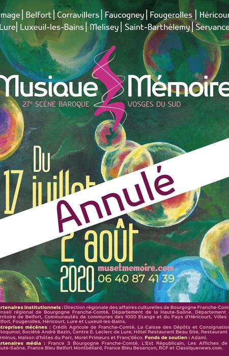 Musique et Mémoire annulé
